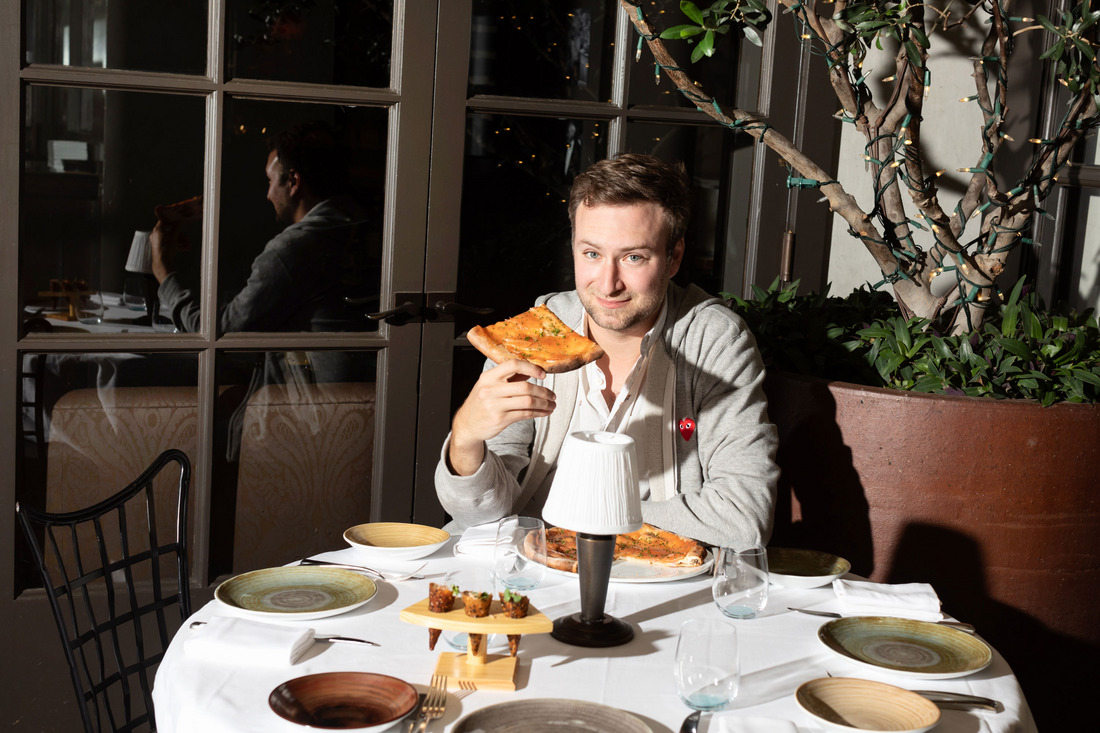 """David Gelb Dreams of Pizza """"Legendary pizza for both breakfast and lunch — not bad."""""""